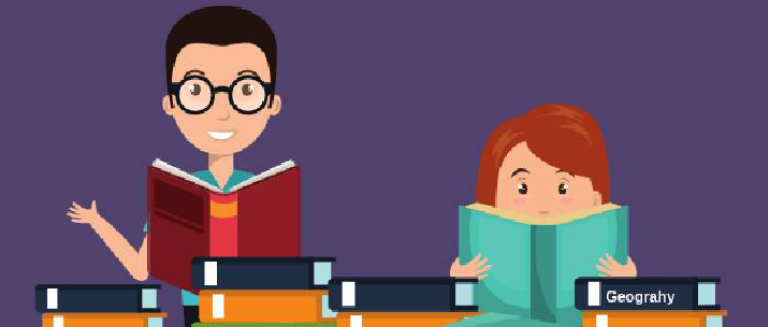 An animated image that represents the concept of preparation for IAS examination.